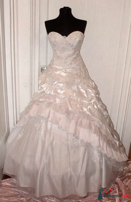 Алиса белое - на корсете нежно-розовая и голубоватая вышивка  -  40-46 размер -  прокат 2000р. - фото 112529 Платье для Золушки - прокат свадебных платьев