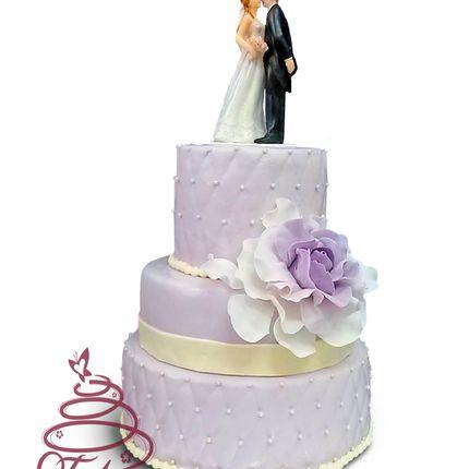 Свадебный торт в сиреневой гамме, цена за 1 кг