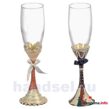 свадебные бокалы2 - фото 103173 Елена222