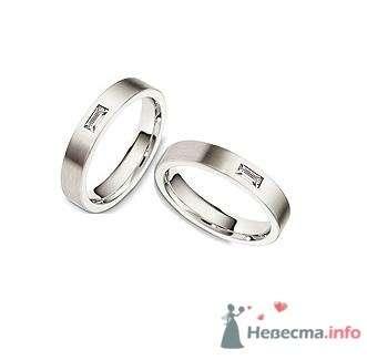 Обручальные кольца из белого золота с аквамаринами - фото 9097 Интернет-магазин Miagold