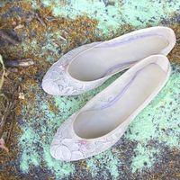 кружевные свадебные балетки Candy Lady