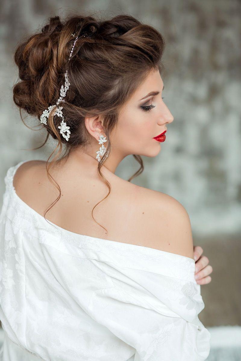 Красивые свадебные прически для каждого типа волос. 151 лучшее фото 34