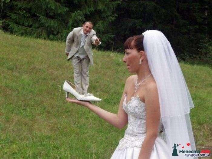 жених в туфле, ну и невестино лицо, тоже счастьем не блещет - фото 115896 Alenka88