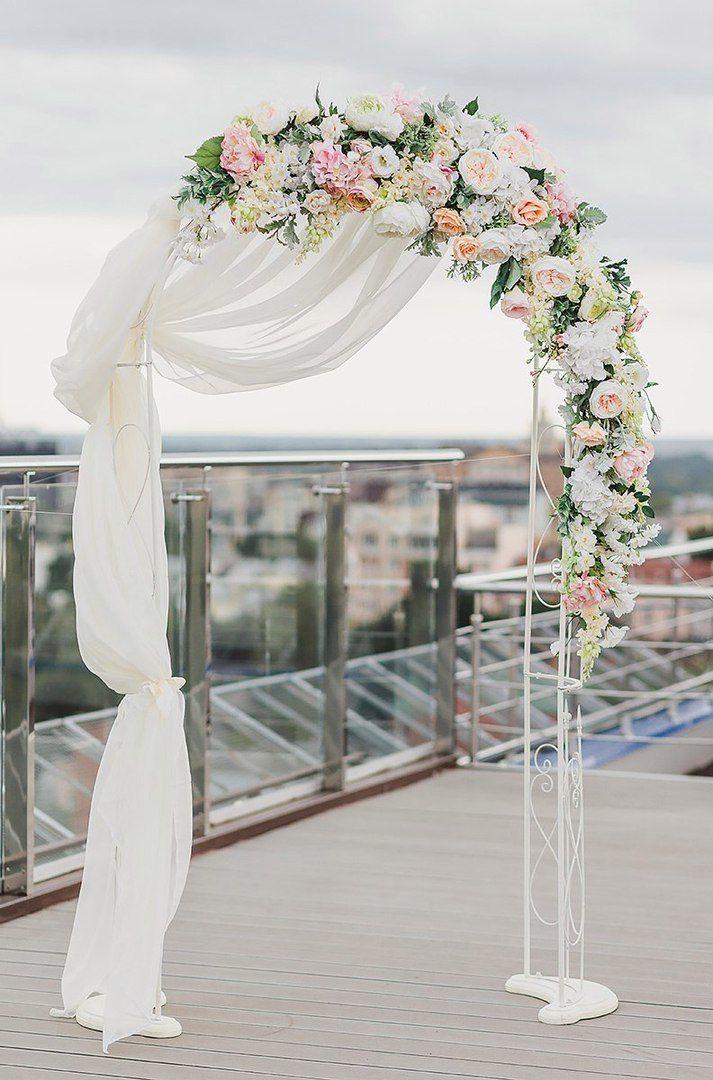 """Кованная арка с искусственными цветами, сдаётся в аренду. Доставка по городу бесплатная - фото 16248746 Студия флористики и декора """"Вальс цветов"""""""