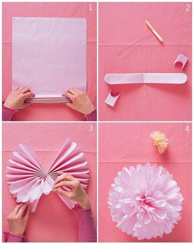 Как сделать из бумаги украшения на день рождения