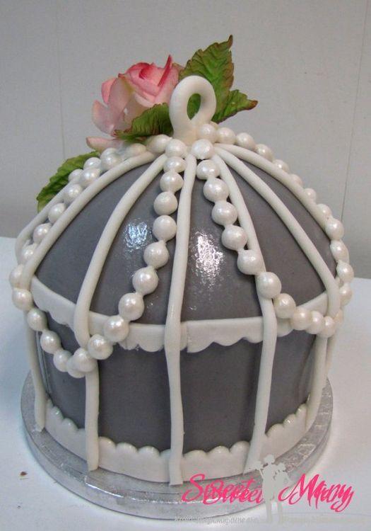 """Торт """"клетка"""" для свадьбы в сером декоре - кондитерская СВИТ МЭРИ, заказ на сайте. Доставка."""