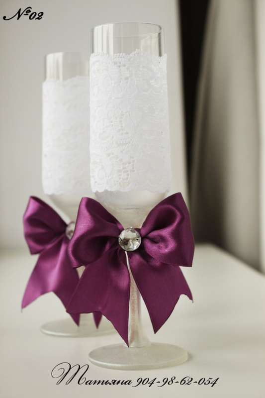 Фото 998463 в коллекции Бокалы - Свадебные аксессуары от WeddingDecor