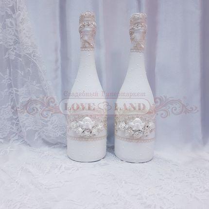 Декор свадебных бутылок - артикул 04
