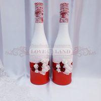 Декор свадебных бутылок - артикул 15