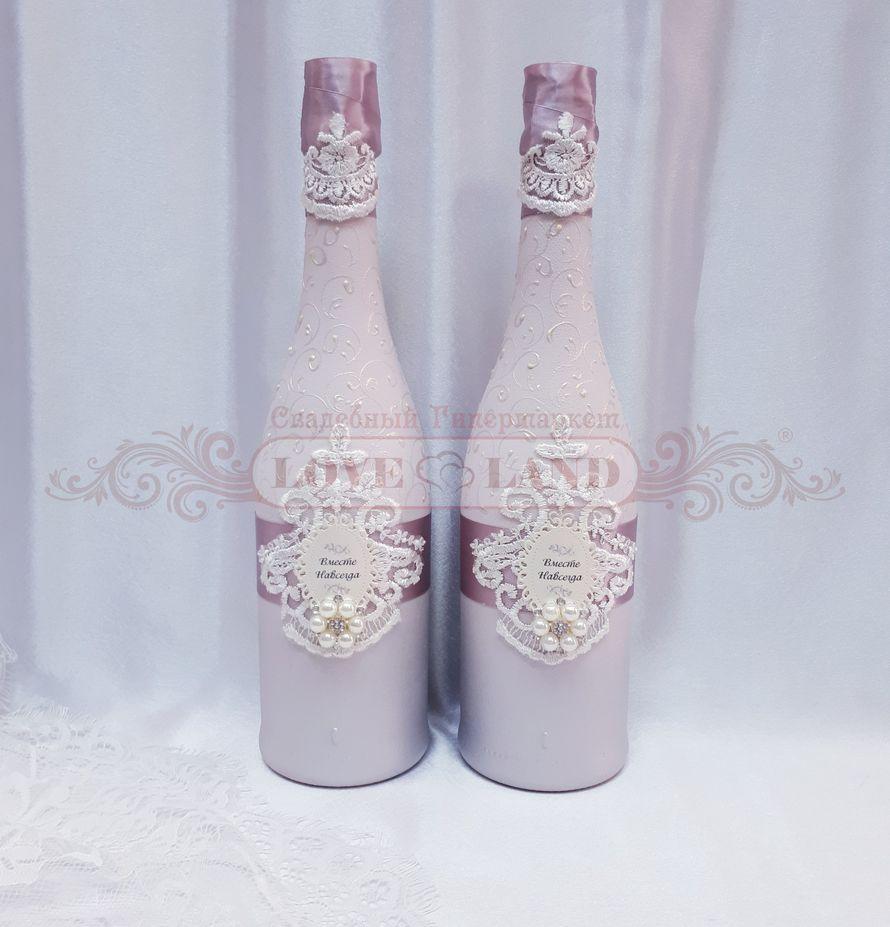 Декор свадебных бутылок - артикул 13