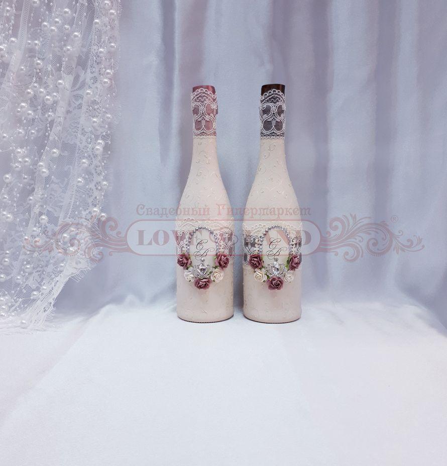 Декор свадебных бутылок - артикул 23