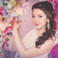 """невеста в нежно розовых тонах в фотостудии """"Арена"""""""