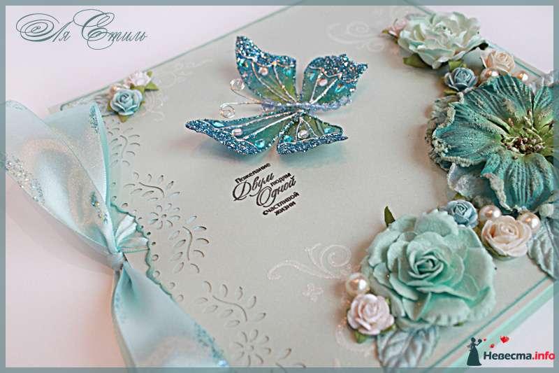 """Книга пожеланий """"Голубой перламутр"""" - фото 109893 Ля Стиль - цветы и подарки"""