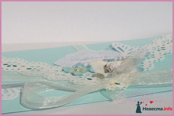 """Конверт """"Мятная бабочка"""" (С Днем свадьбы) - фото 124163 Ля Стиль - цветы и подарки"""