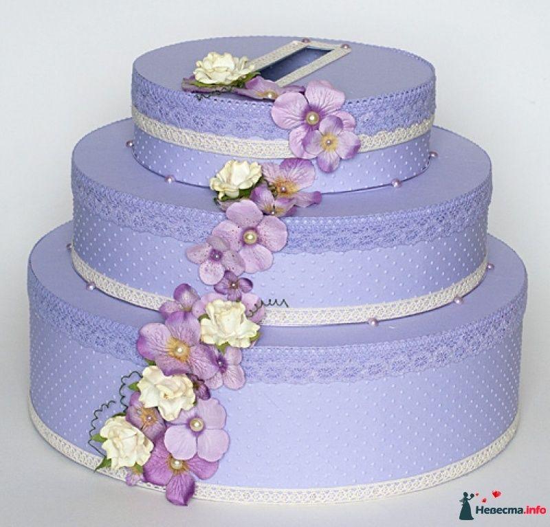 Сундучок для денег на свадьбу в виде торта своими руками