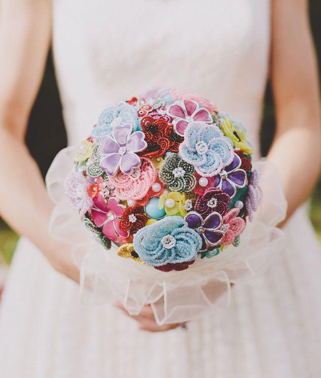 Фоамирана, свадебный букет не из цветов