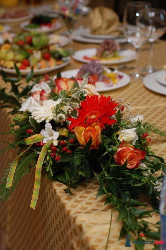 "Композиция на стол молодоженов - фото 112030 ""Цветочный бутик"" - студия флористов"