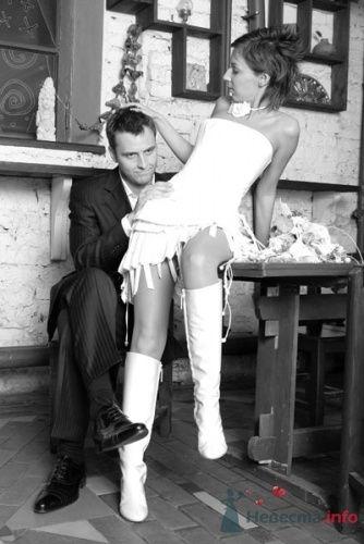 Фото 13560 в коллекции Короткое свадебное платье Алены - Свадебная мастерская ОП-позиция