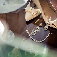 Свадебные туфли, свадебные серьги