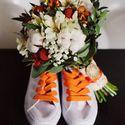 оранжево-белый букет