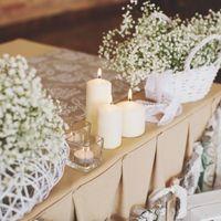 свечи, кружево, лен, рустикальный,гипсофила, белая свадьба