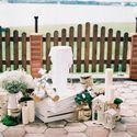 рустик. белый, спилы, дерево, ящики, свечи, гипсофила, выездная церемония