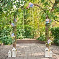 свадебная арка, выездная регистрация, арка из веток, рустикальная свадьба, гортензии
