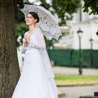 Невеста Дарья. Зонт свадебный салон COCON