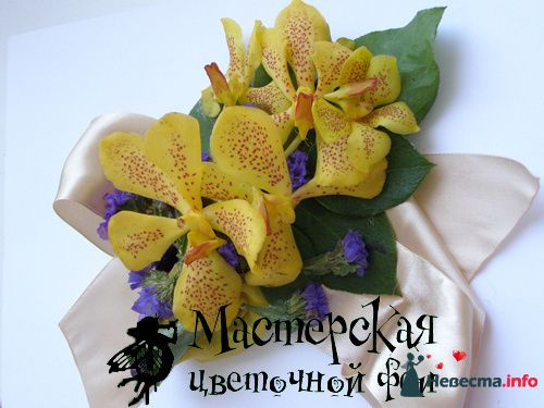 браслет - фото 121613 Мастерская цветочной феи - цветы