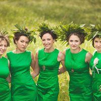 Подружки невесты в зеленом Прически: Катя Гущина Макияж: Светлана Романова