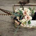 Букет невесты из гербер и роз в стиле бохо