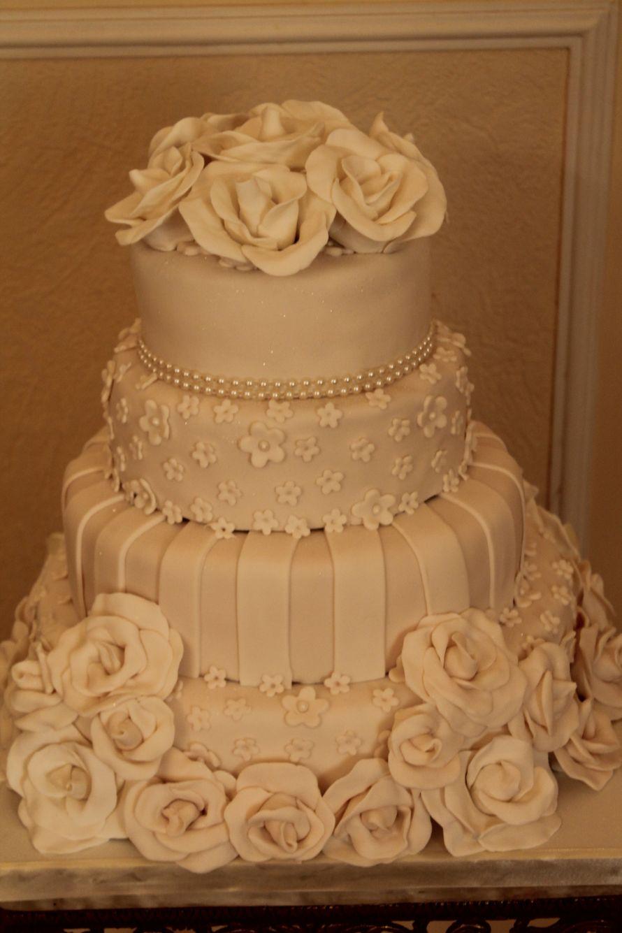Фото 1117937 в коллекции Мои фотографии - Иннэсса - свадебные торты из мастики