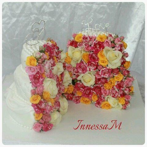 Фото 6275545 в коллекции торты - Иннэсса - свадебные торты из мастики