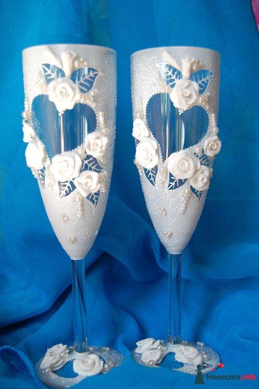 Фото 131075 в коллекции Свадебные бокалы с лепкой!!!!