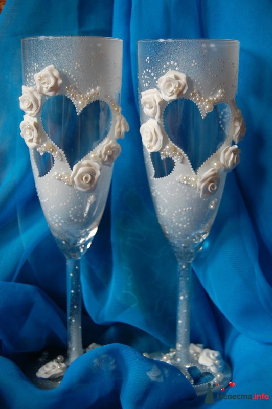 Фото 131077 в коллекции Свадебные бокалы с лепкой!!!! - Кетлин - свадебные бокалы