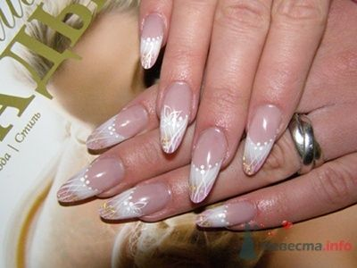 """Фото 10389 в коллекции Наращивание ногтей. Ногти на свадеьбу, торжество и на каждый день. - Студия свадебной моды """"Артрина"""""""