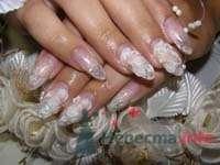 """Фото 10395 в коллекции Наращивание ногтей. Ногти на свадеьбу, торжество и на каждый день. - Студия свадебной моды """"Артрина"""""""