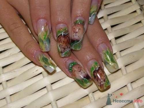 """Фото 10396 в коллекции Наращивание ногтей. Ногти на свадеьбу, торжество и на каждый день. - Студия свадебной моды """"Артрина"""""""