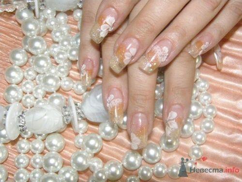 """Наращивание ногтей акрил, спокойные пастельные тона. - фото 10407 Студия свадебной моды """"Артрина"""""""
