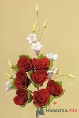 """Цветы из пастилы для украшения тортов - фото 10569 """"Бар-О-Белл"""" - кондитерские изделия"""