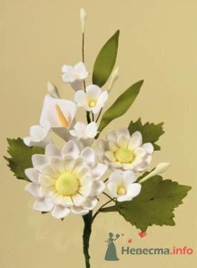 """Цветы из пастилы для украшения тортов - фото 10571 """"Бар-О-Белл"""" - кондитерские изделия"""