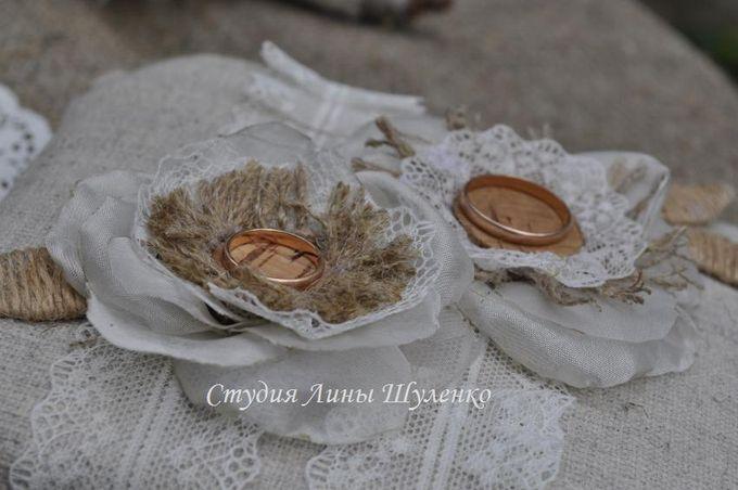 Декор подушечки для колец в стиле рустик. Рустикальная свадьба в Крыму.
