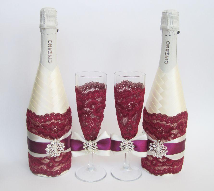 Бокалы и шампанское своими руками
