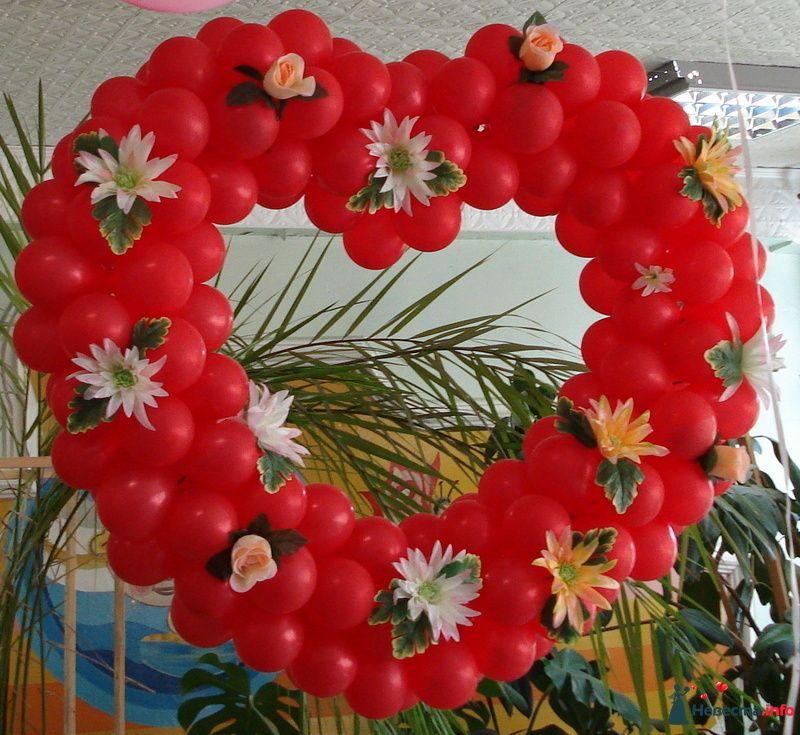 """Сердце из шаров на свадьбу - фото 126487 Агентство """"Баттерфляй"""" оформление"""