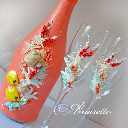 Бокалы и оформление шампанского