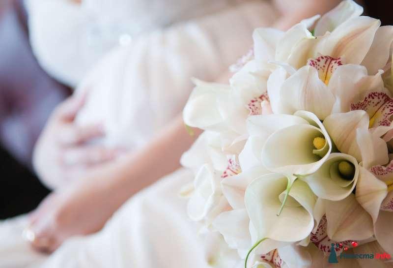 Букет, свадебные букеты из диких орхидей и калл