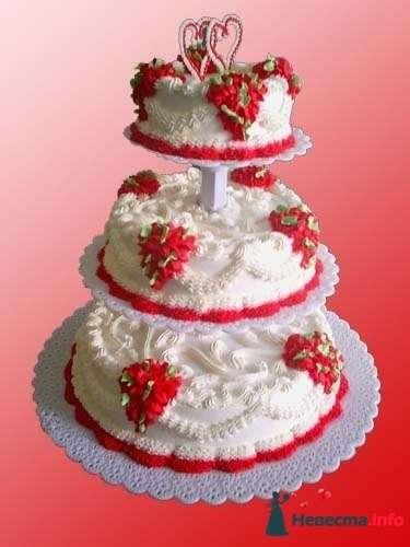 """Фото 128180 в коллекции Свадебные торты - """"Мир Любви"""" - студия свадебных услуг"""