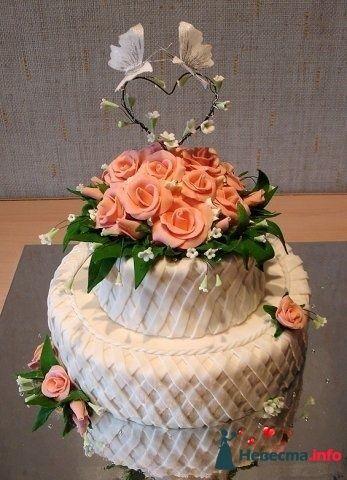 """Фото 128206 в коллекции Свадебные торты - """"Мир Любви"""" - студия свадебных услуг"""