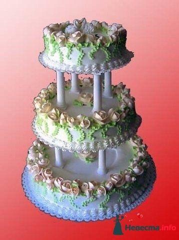 """Фото 128254 в коллекции Свадебные торты - """"Мир Любви"""" - студия свадебных услуг"""