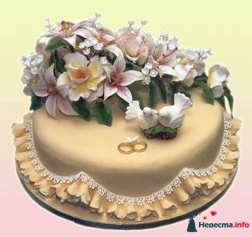 """Фото 128275 в коллекции Свадебные торты - """"Мир Любви"""" - студия свадебных услуг"""